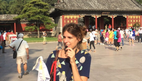 Tourist group in China (trip across the country), August 2015.