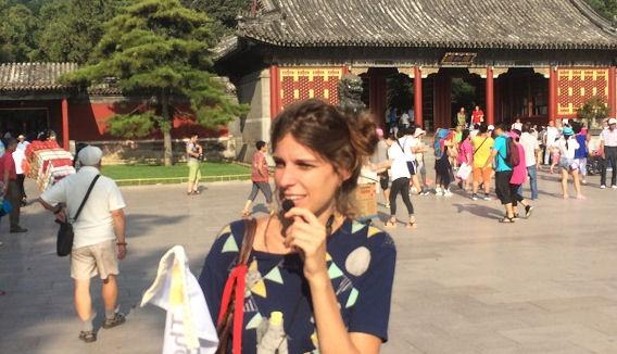 Groupe touristique en Chine (voyage à travers le pays), août 2015.