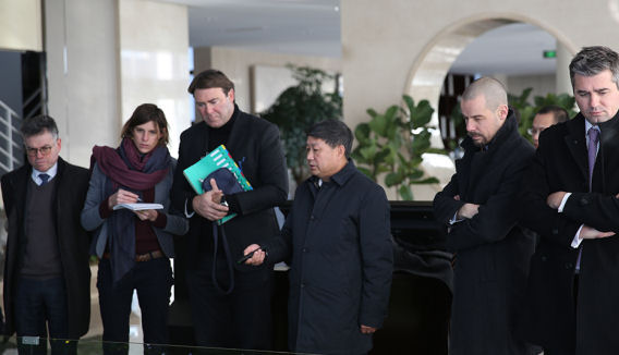 State visit to China, delegation under Denis Ducarme, Minister of Agriculture and SME, February 2018.