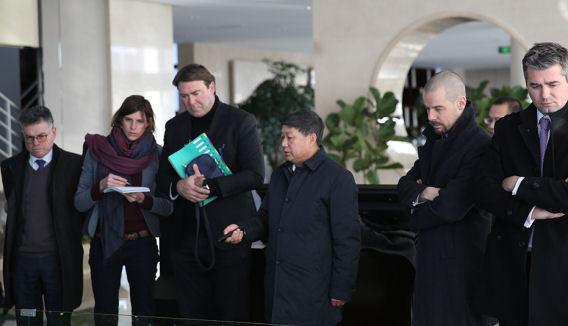 Visite d'état en Chine (Pékin) délégation de Denis Ducarme, ministre des Classes moyennes, des Indépendants, des PME, de l'Agriculture et de l'Intégration sociale, février 2018.