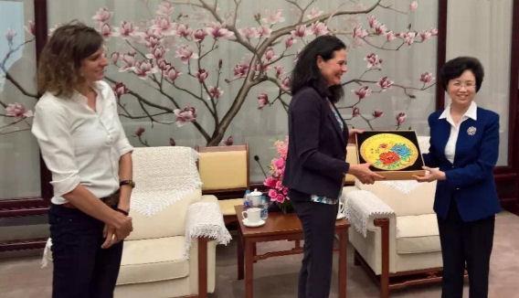 Visite d'état en Chine (Pékin et Qinghai) délégation sous Christine Defraigne, président du Sénat, mai 2017.