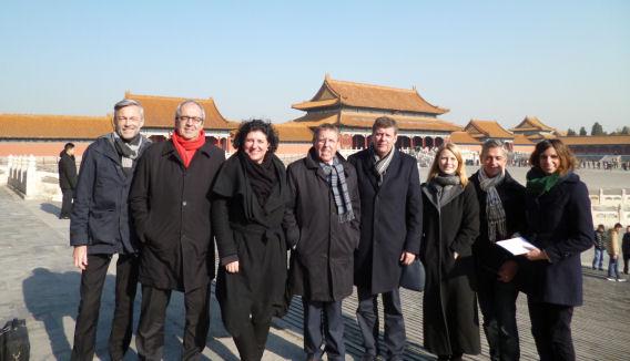 Visite d'état en Chine (Pékin et Tibet) délégation sous Siegfried Bracke, président de la Chambre, décembre 2016.